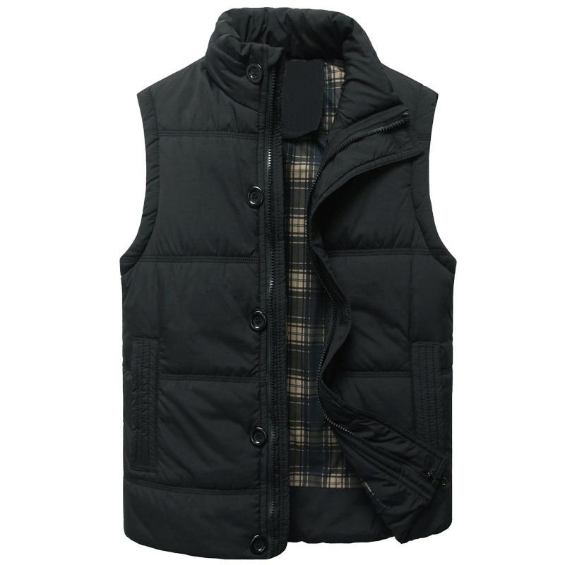 Winter Vest Men Jacket Coat Casual Outerwear Warm Sleeveless Military Plus Size