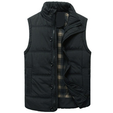 Winter Vest Men Jacket Coat Casual Outerwear Warm Sleeveless Military Plus Size