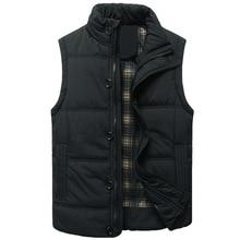 купить Winter Vest Men Winter Jacket Men Coat Winter Casual Outerwear Warm Sleeveless Men Winter Jacket Military Winter Vest Plus Size дешево