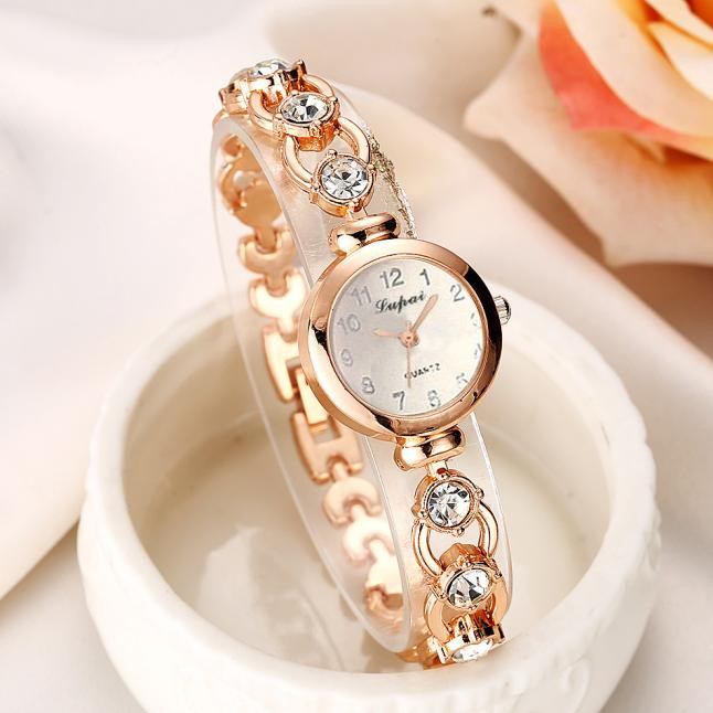 Thin Strap Stainless Steel Hollow Fashion Ladies Watch Full Diamond Luxury Commuter Dating Women Watch Kijk maar