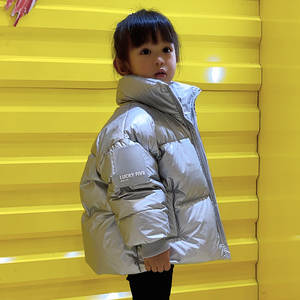 Winter Coat Down-Jacket Boys Parka Teenage Girls Shiny Waterproof Kids Children OLEKID