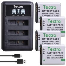 4PCS Li-90B Li90B Li-92B Battery for Olympus Tough TG-6 TG-5 TG-Tracker SH-1 SH-2 SP-100 IHS Tough TG-1 TG-2+LED USB Charger cheap Tectra Camera Standard Battery