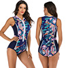 Zippered Front Sports One Piece Swimsuit 23