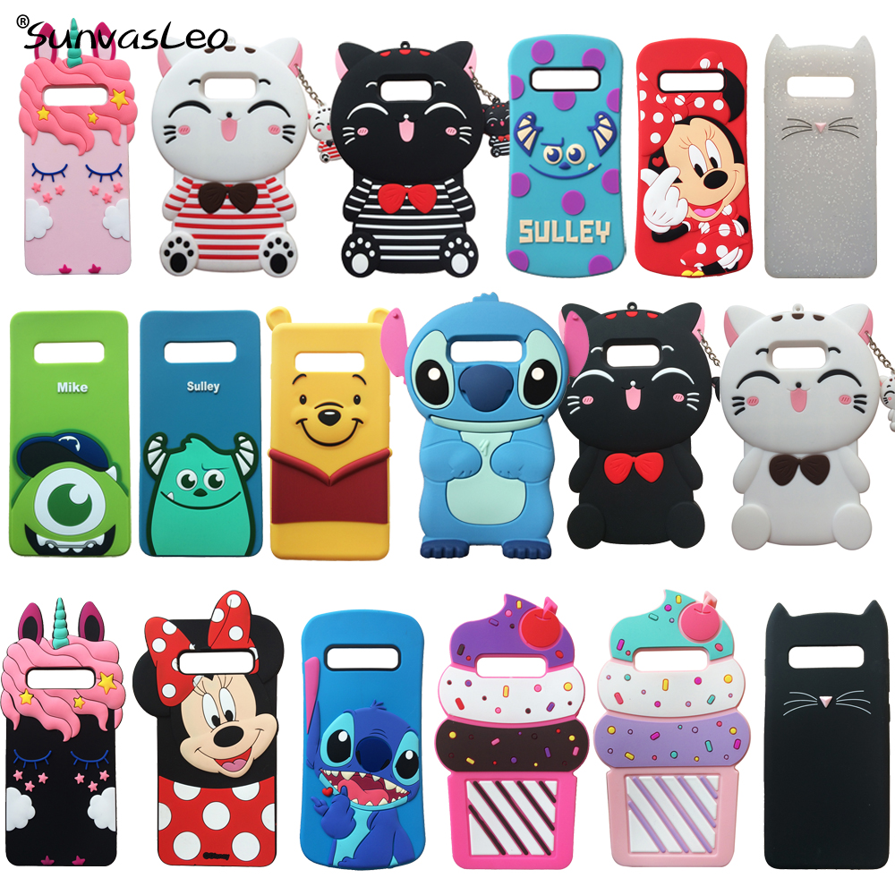 For Samsung Galaxy S10 S10E S10 Plus 3D Cute Cartoon Soft Silicone Case Phone Back Cover Skin Animal Patterned Shockproof Shell