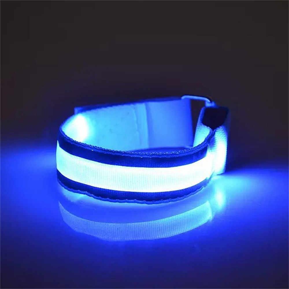 Đèn LED Ánh Sáng Phản Quang Cánh Tay Tay Dây Đeo Tay An Toàn Cho Đêm Chạy Đi Xe Đạp Cầm Tay Dây Quấn Cổ Tay Vòng Tay Trang Sức Giọt Z0823