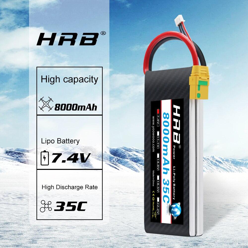 LA DGRH 2S Lipo Batterie 7.4V 8000mah 35C 70C RC Pièces Doyens T Bateria AKKU pour Traxxas 1:10 1:12 Voiture RC Hélicoptère Avion Voiture Bateau