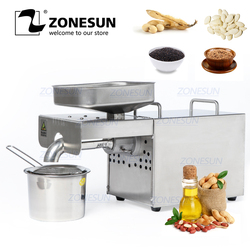 ZONESUN Stainless Steel Oil Press Machine Commercial Home Oil Extractor Expeller Presser 110V or 220V Available seed семена