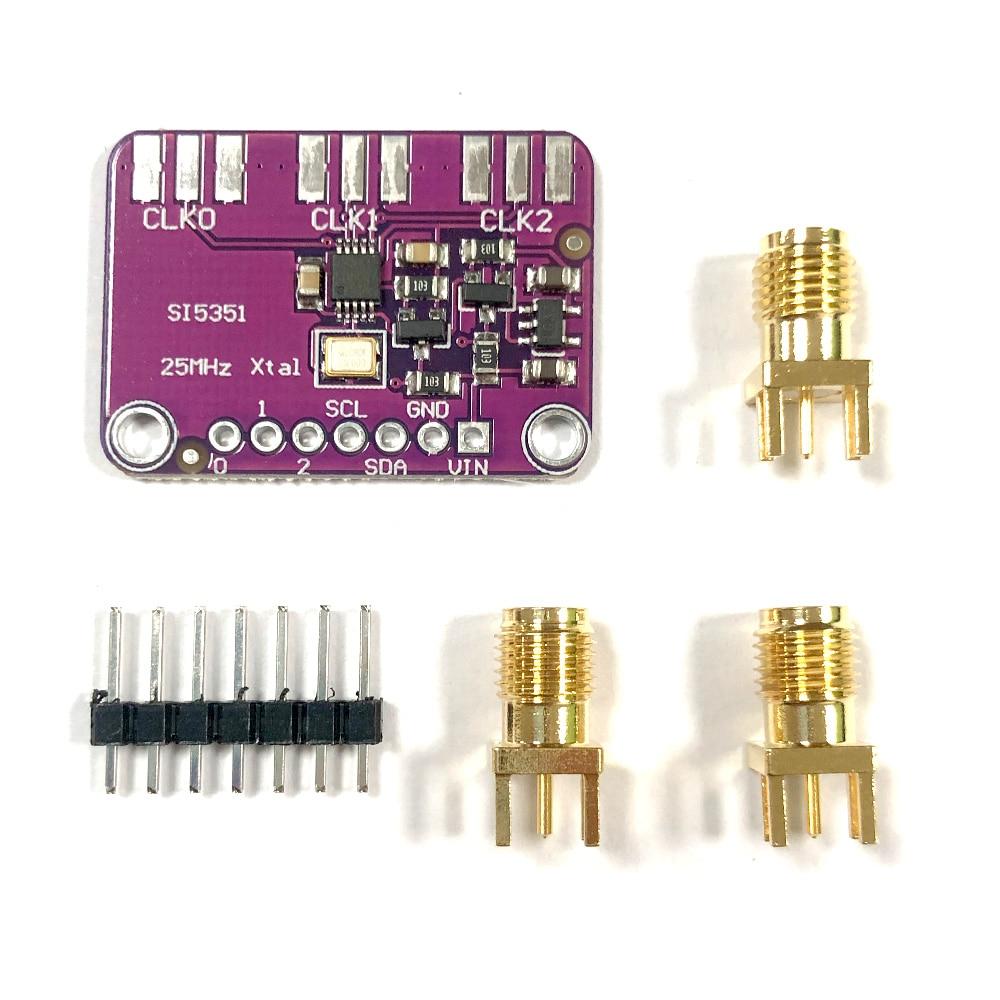 DC 3V-5V CJMCU-5351 Si5351A Si5351 I2C тактовый генератор коммутационная плата Arduino модуль SI5351 генератор сигналов часы 8 кГц-160 МГц