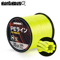Hunthous braided line 8 strands cores pe fishing line multifilament wicker fishing cord string 300m 500m 1000m for bass