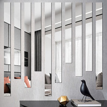 Mirror Stripe Acrylic 3D Wall stickers Living room Bedroom Simple lines Wall Decoration Restaurant TV background wall stickers