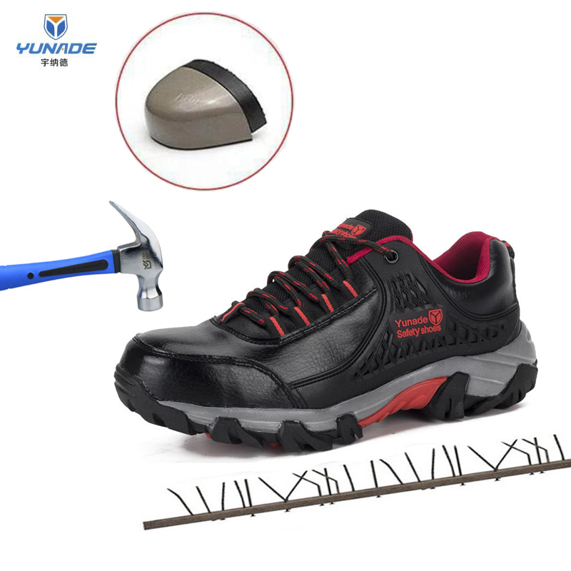 European Standard Steel Toe Work Safety Shoes Construction Steel Toe Shoes Safety Men Boots Waterproof Puncture-Proof Work Shoes image