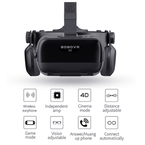Image 5 - NEW Global Version BOBOVR Z5 Virtual Reality Headset VR Box 3D glasses Cardboard for Daydream smartphones Full package  GamePad