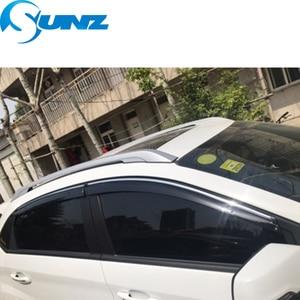 Image 5 - Smoke Car Side Window Deflectors For Chery Tiggo 5 2014 2015 2016 2017 2018 Sun Rain Deflector Window Visor Weather Shield SUNZ