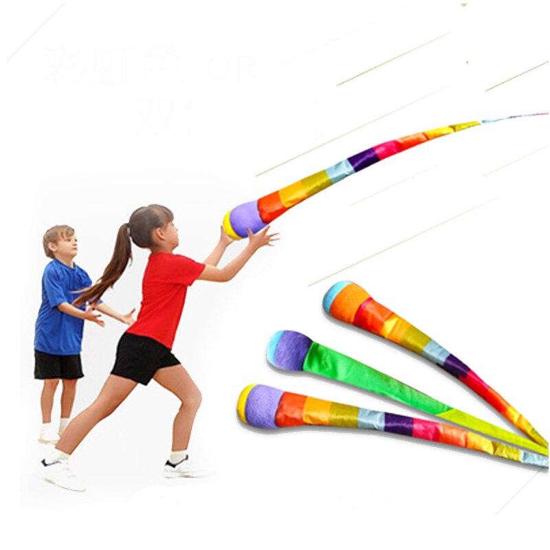 Meteor gökkuşağı topu el atmak şerit kum torbaları duyusal oyun açık oyuncaklar spor oyunları için çocuk çocuk