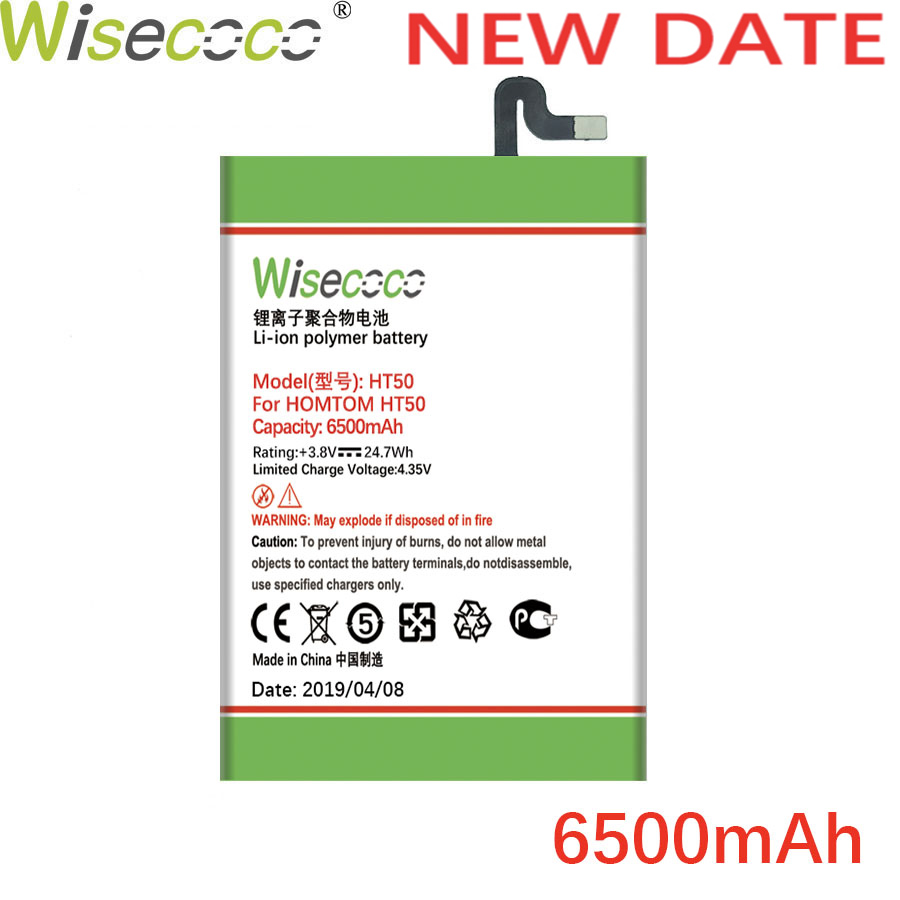 Wisecoco Neue Produktion <font><b>Batterie</b></font> Für <font><b>Homtom</b></font> <font><b>batterie</b></font> (HT3 <font><b>HT7</b></font> HT17 HT37 HT50) pro Telefon Hohe Qualität <font><b>batterie</b></font> + Tracking Nummer image