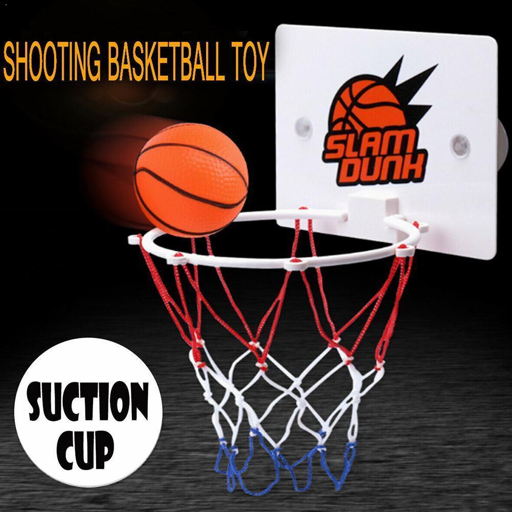 3pcs/set Mini Basketball Hoop Toys Suck Wall-mountedhanging Outdoor Netball Shooting Hoop Frame Basketball Basketball N6K2