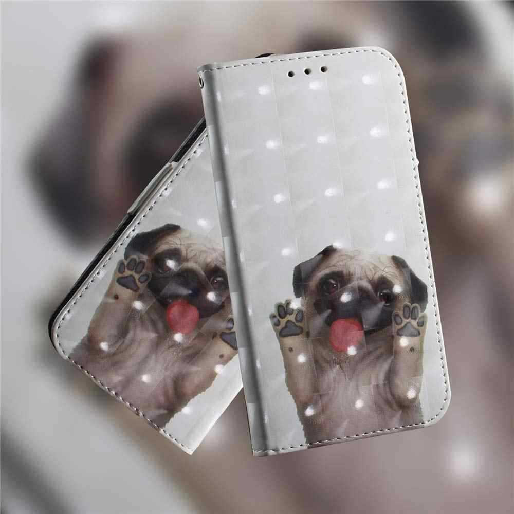 3D Cüzdan Flip Case Için Huawei Y6 Y7 Y5 Y9 Başbakan 2019 2018 Kapak Cüzdan PU Deri Kılıf Için Huawei P Akıllı Artı Z Nova 5i 4 3i 3