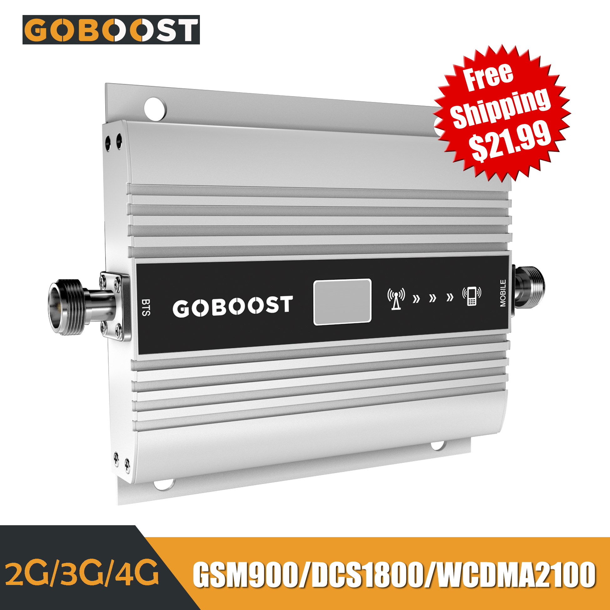 GSM Repeater 2G 3G 4G Cellular Signal Booster LTE 4G DCS Cellular Amplifier 900 1800 2100 WCDMA Mobile Signal Booster Repeater
