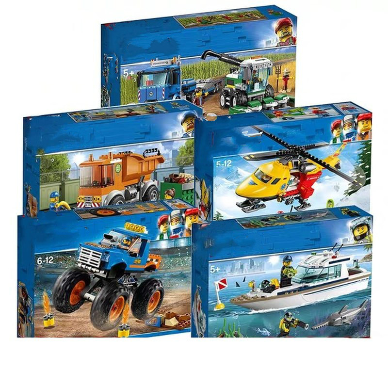New City Series Bricks Harvester Transport Compatible Legoingly City 60223 60222 60221 Building Blocks for Kids Christmas Gift image