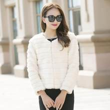 Furry Women Coats 2020 Fur Faux Fur Coat Jackets Overcoat Furry Lady Office Wear Imitation Fox Fur Sexy Short Jackets J91(China)