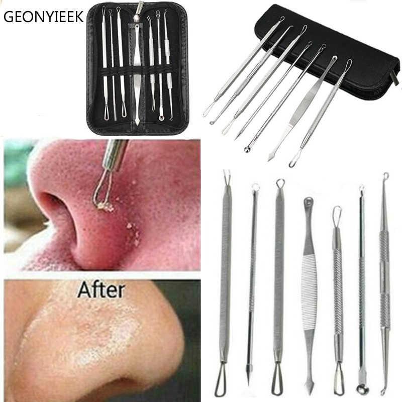 3 4 5 7 8 Pc Kit d'outils de dissolvant de points noirs d'acier inoxydable Massage de visage