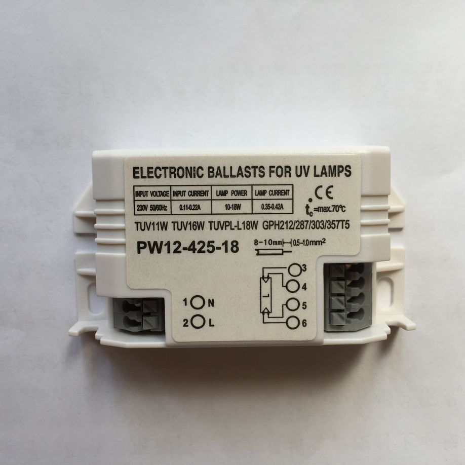220V 4-18W Universal Electronic Ballasts For G23 UV Lamp G10q Ultraviolet Germicidal Disinfection Lamp G5 UVC Sterilizing Lights