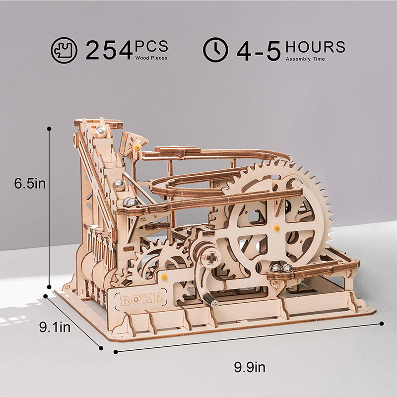 Robotime ROKR Blocks Marble Race Run Maze Balls Track DIY 3D Wooden Puzzle Coaster Model Building Kits Toys for Drop Shipping