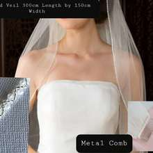 Wedding Veil Mantilla Flowers Lace Beadwork Long White/ivory 3m with Veu-De-Noiva MD3053