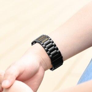 Image 5 - HOCO 22mm רוחב נירוסטה להקת עבור Samsung ציוד ספורט S3 Galaxy שעון רצועת מתכת צמיד, שחור וכסף צבע
