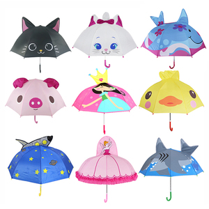 Cute Cartoon Children Umbrella animation creative long-handled 3D ear modeling kids umbrella For boys girls Free shipping(China)