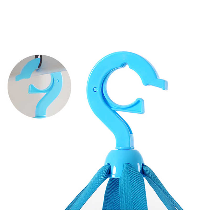 3 Lapisan Lipat Pengeringan Rak & Jaring Mesh Biru Sweater Pakaian Bra Gantung Keranjang Laundry Penyimpanan & Organisasi