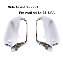 For Audi A4 S4 B8.5/PA Version A5 S5 B8.5 Side Assist Support Matt chrome Silver mirror case rearview mirror cover shell