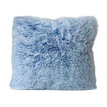 Пушистый длинный плюшевый чехол для подушки милый сплошной карамельный цвет лохматый чехол для подушки
