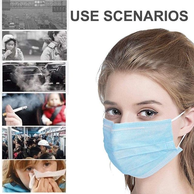 100PCS In stock mouth mask Cotton Anti Dust Mask Mouth Windproof Mouth-muffle Bacteria Proof Flu Face Masks 2