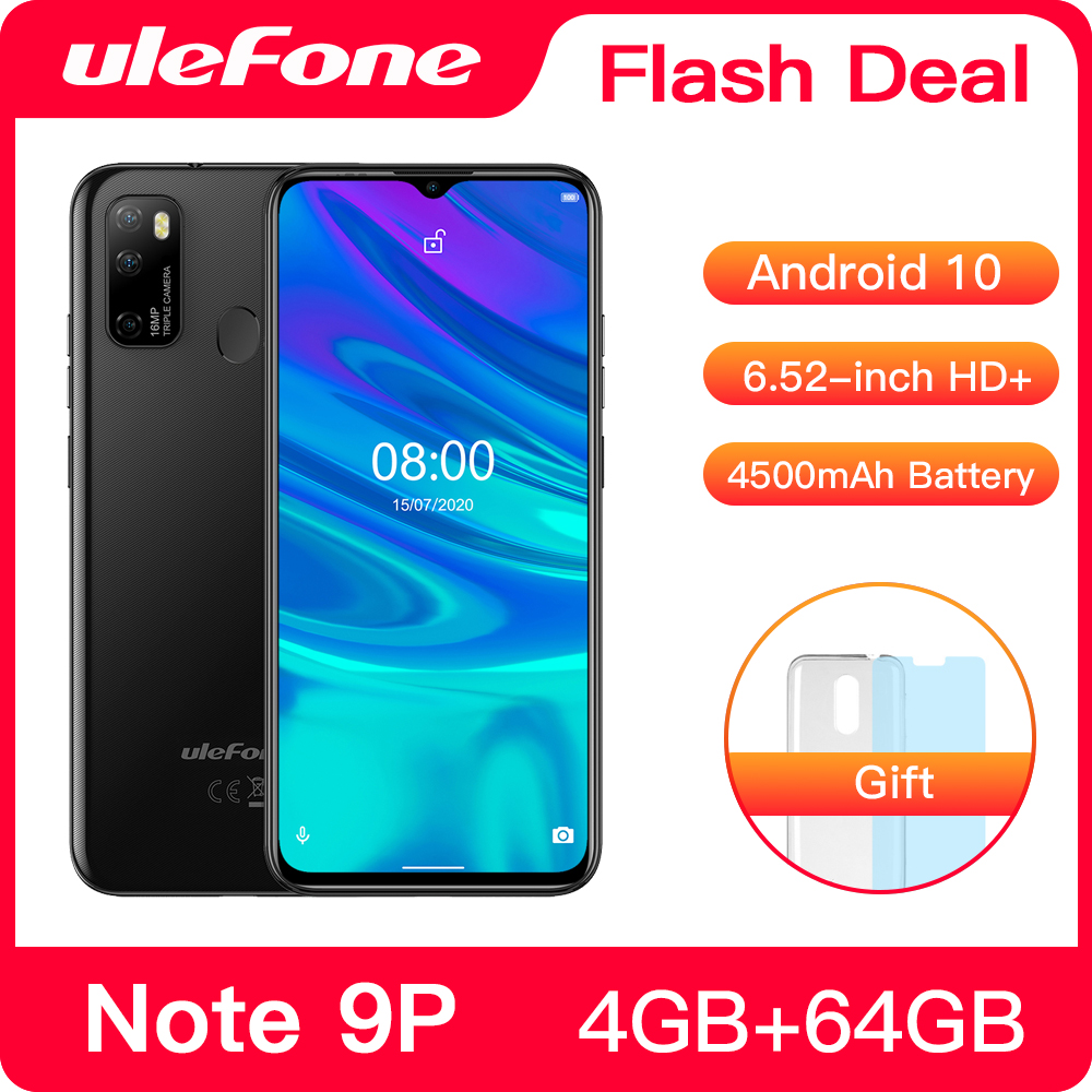 Ulefone Note 9P Smartphone Android 10 4GB+64GB Waterdrop Screen 6.52-Inch Octa-Core 4G Android Mobile Phone 1