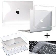 Чехол для ноутбука Apple MacBook Pro 13/15/16 дюйма/MacBook Air 13/11/Macbook 12/белый прозрачный жесткий чехол A1342 + чехол для клавиатуры