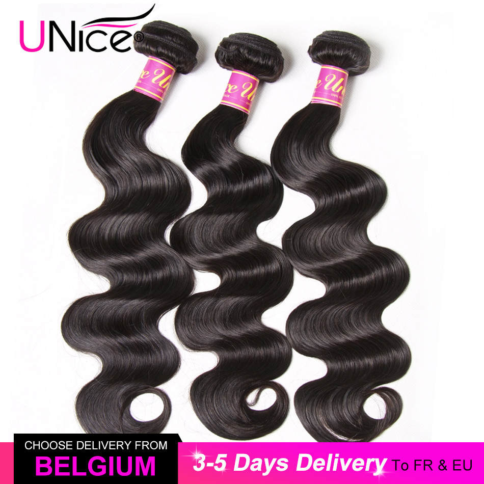 Bundles Weave Virgin-Hair UNICE Body-Wave Africa Natural-Color 30inch Brazilian 100%Human-Hair