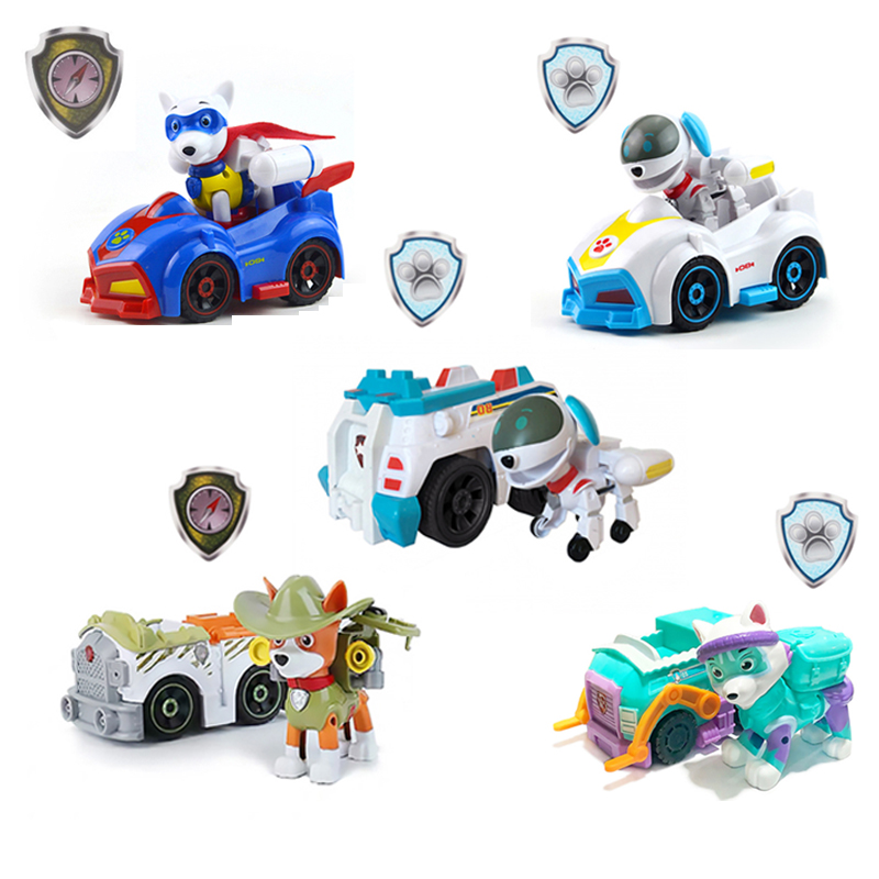 Paw Patrol Puppy Dog Patrol Tracker Car Everest Tracker Robodog Apollo Skye Ryder Chase Marshall Rocky Rubble Children Toy Gift