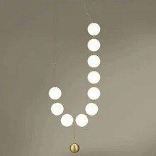 Postmodern luxury living room pendant lamp designer nut creative personality villa restaurant glass ball pendant lights