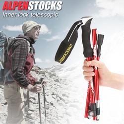 Gorąca sprzedaż laski odporne na zużycie teleskopowe kij do trekkingu ze stopu aluminium kij trzciny kuli do wspinaczki górskiej