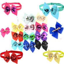 Big Dog Cat Bow Ties Adjustable Shinning Sequins Bowknot Dog Bowties Dog Grooming Bows Big Dog Accessories Pet Supplies