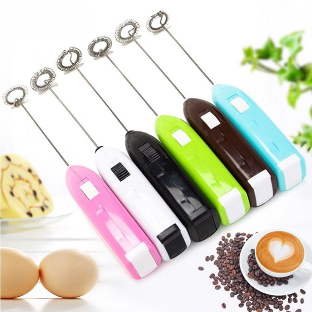 1PC Milk Drink Coffee Whisk Mixer Electric Egg Beater Frother Foamer Mini Handle Stirrer Practical Kitchen Cooking Tool(China)