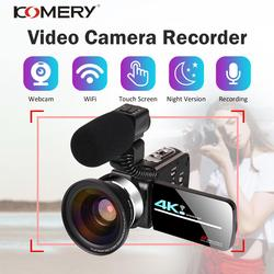 4K 48MP Video Camera Camcorder Vlogging Camera Live Stream Webcam 3.0 Inch HD Touch Screen/Night Vision/Wifi External Microphone
