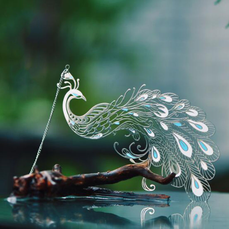 Beautiful Peacock Metal Bookmark Creative Art Restoration Ancient Style Classical Gifts Chinese Style Stationery
