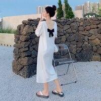 Kosten-Effektive College Stil Maxi Lang Plus Größe Kleid Elegant Für Frauen Sommer 2021 Neue Kleidung Harajuku Damen Kleider lose
