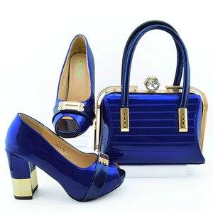 Royal blue lady pumps elegant