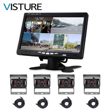 Monitor Camera-System Rearview-Cam Trailers 4-Channel Visture for Caravan Bus Parking-360/rear-View