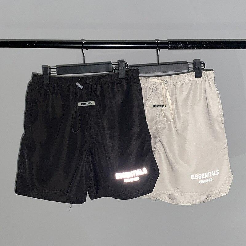 Шорты противотуманные мужские/женские Светоотражающие, нейлоновые бриджи для улицы, двойные повседневные Капри, летние женские