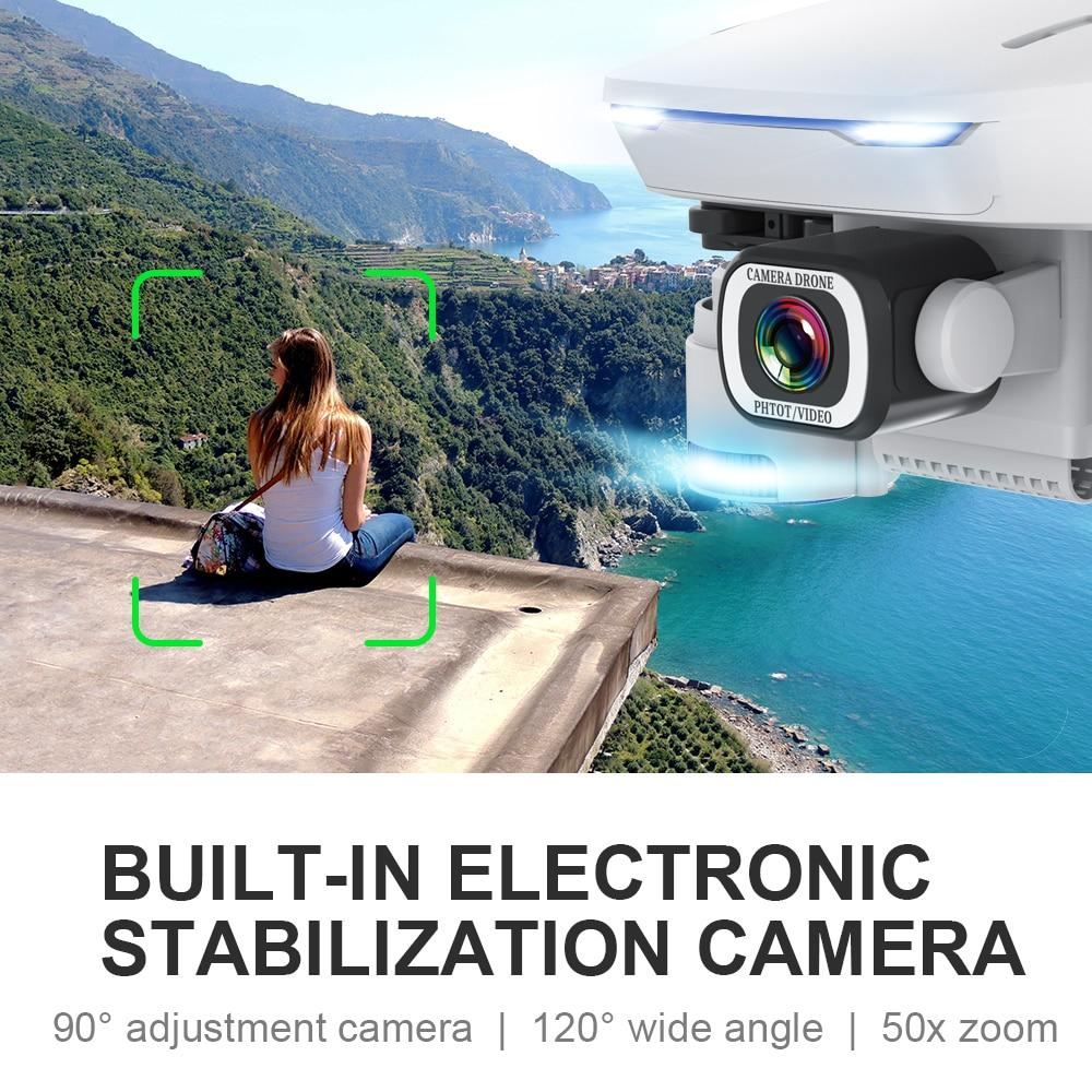 Drone SHAREFUNBAY S162 GPS 4K HD 1080P 5G WIFI FPV vol quadrirotor 20 minutes distance RC 500m dron drone de retour intelligent pro - 3