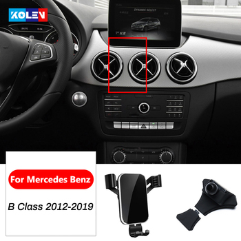 Car Mobile Phone Holder For Mercedes Benz B Class W264 W242 B180 B200 B250 2012-2019 GPS Air Vent Gravity Mount Bracket Stand image
